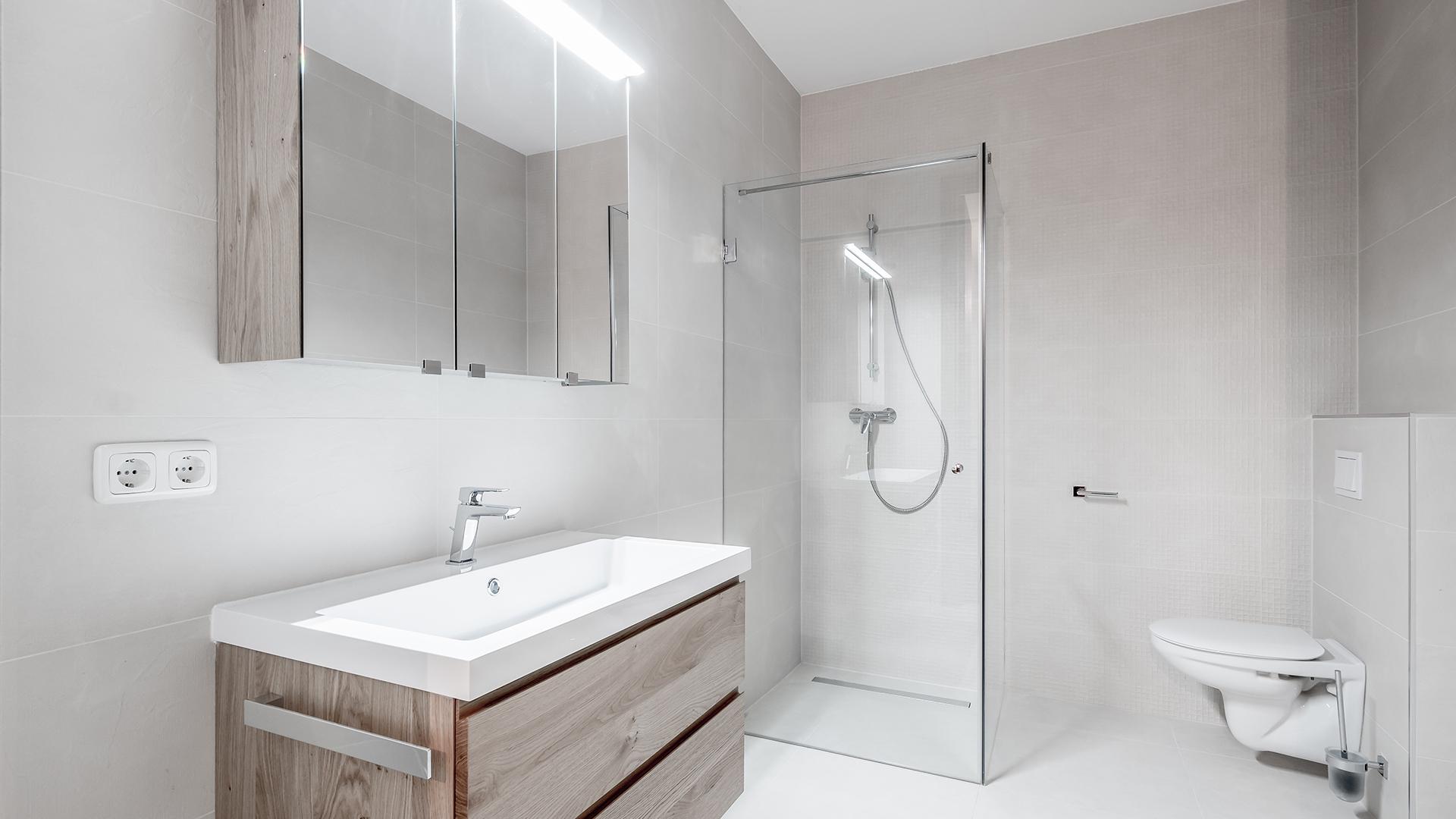 Badezimmer im Blauen Haus in Schwaz