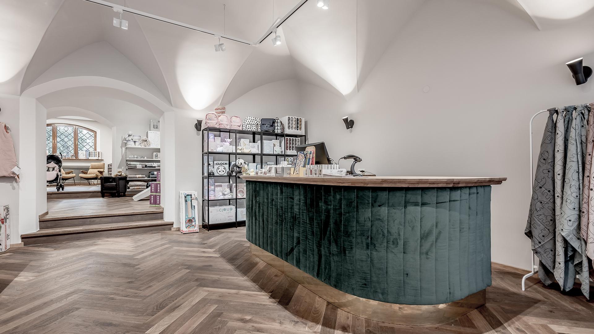 Geschäftslokal im Blauen Haus in Schwaz