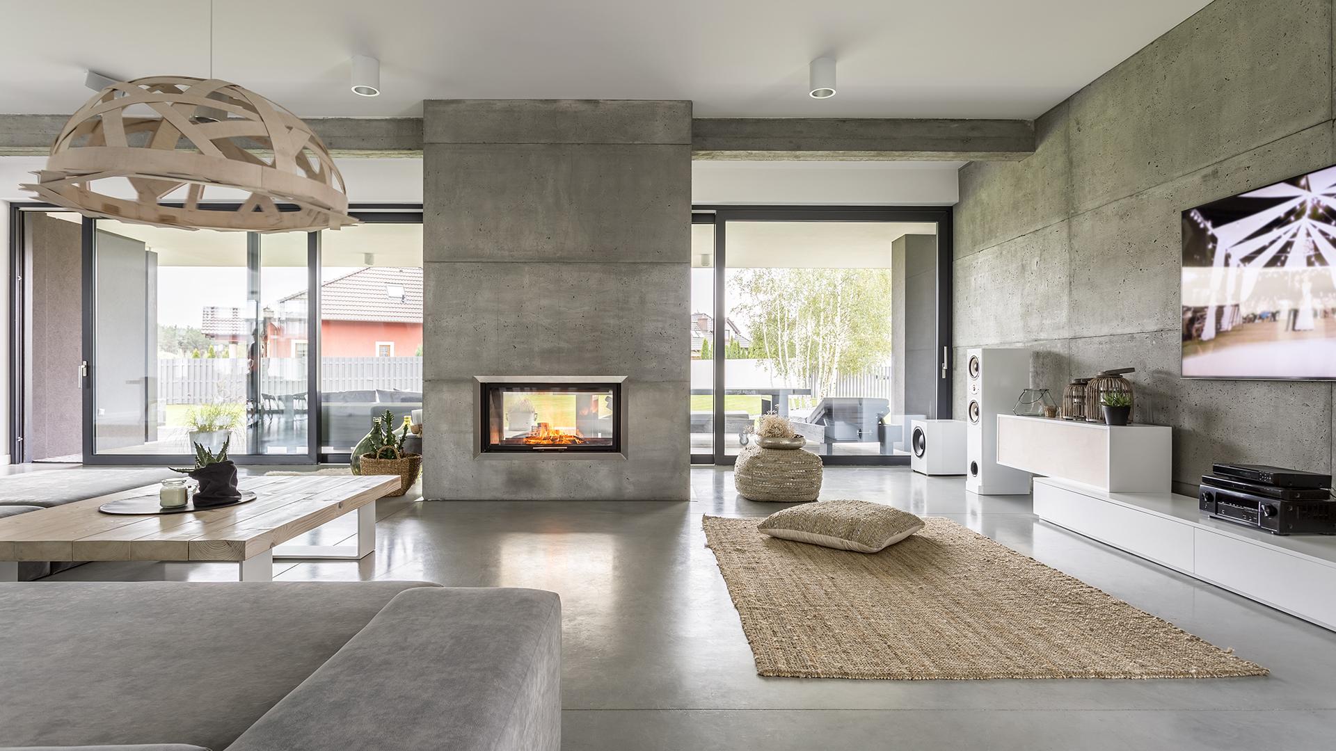 Wohnraum mit Ofen